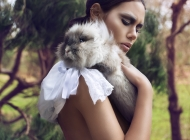 Justine Jugnet - Femme Portrait Agence Book Lapin Lyon Mode - Edito Magasine - Studio le carre