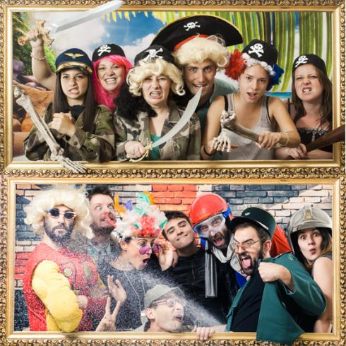 Groupe d'amies déguisés en pirate pour faire la fête sur un décor de plage,  activité pour enterrement de célibataire fun et décalé. idées d'activités originale et insolites pour un enterrement