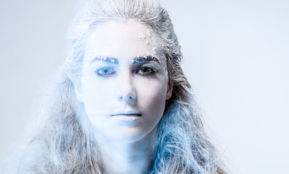photographe toulouse, frozen, bleu, froid, portrait