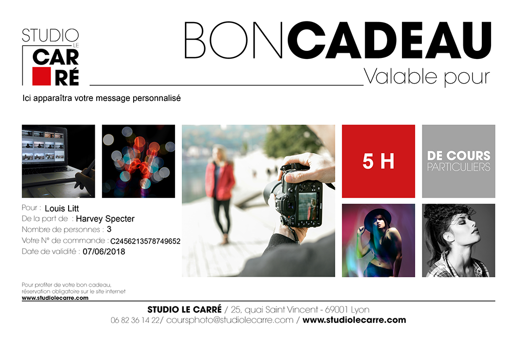 Bon cadeau, seance shooting photo, photographe Lyon, studio photo lyon, studio photo a lyon, Etienne RUGGERI, editer un bon cadeau, offrir un cadeau, offrir, cadeau