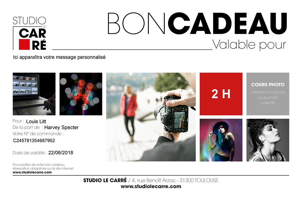 cours photo Toulouse, Bon cadeau, seance shooting photo, photographe Lyon, studio photo Toulouse, studio photo a Toulouse, Etienne RUGGERI, Etienne REGIS, editer un bon cadeau, offrir un cadeau, offrir, cadeau