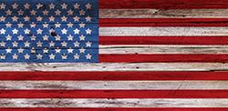 Visuel de fond drapeau américain pour Séance shooting photo sur décor au studio le carré