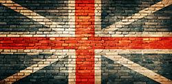 Visuel de fond drapeau anglais pour Séance shooting photo sur décor au studio le carré