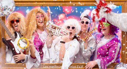 Groupe de rock disco pour un enterrement de vie de jeune fille en rose