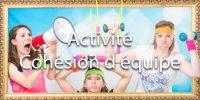 idée animation pour entreprise Photocall sur décors originaux qui assurera le succès de tous vos événements soirées et séminaires d'entreprises | 3 sportives s'entraînent | sport, effort, criéer, muscle