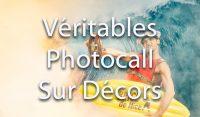 Photocall avec décor et mise en scène pour soirée de fin d'année et séminaires d'entreprises | Activité surf sur décor lors de votre séminaire | vague, mer, surf, chapeau, sport