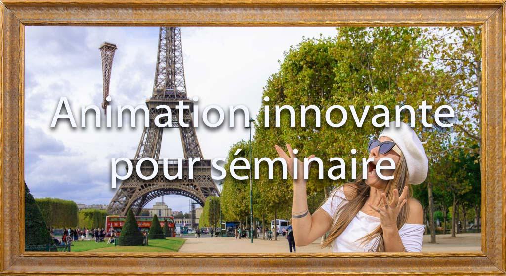 idée animation pour entreprise Photocall sur décors originaux pour tous vos événements soirées et séminaires d'entreprises | Le jour ou la tour effeil s'est écroulée | Paris, surprise, voyage, visite, loisir, touriste