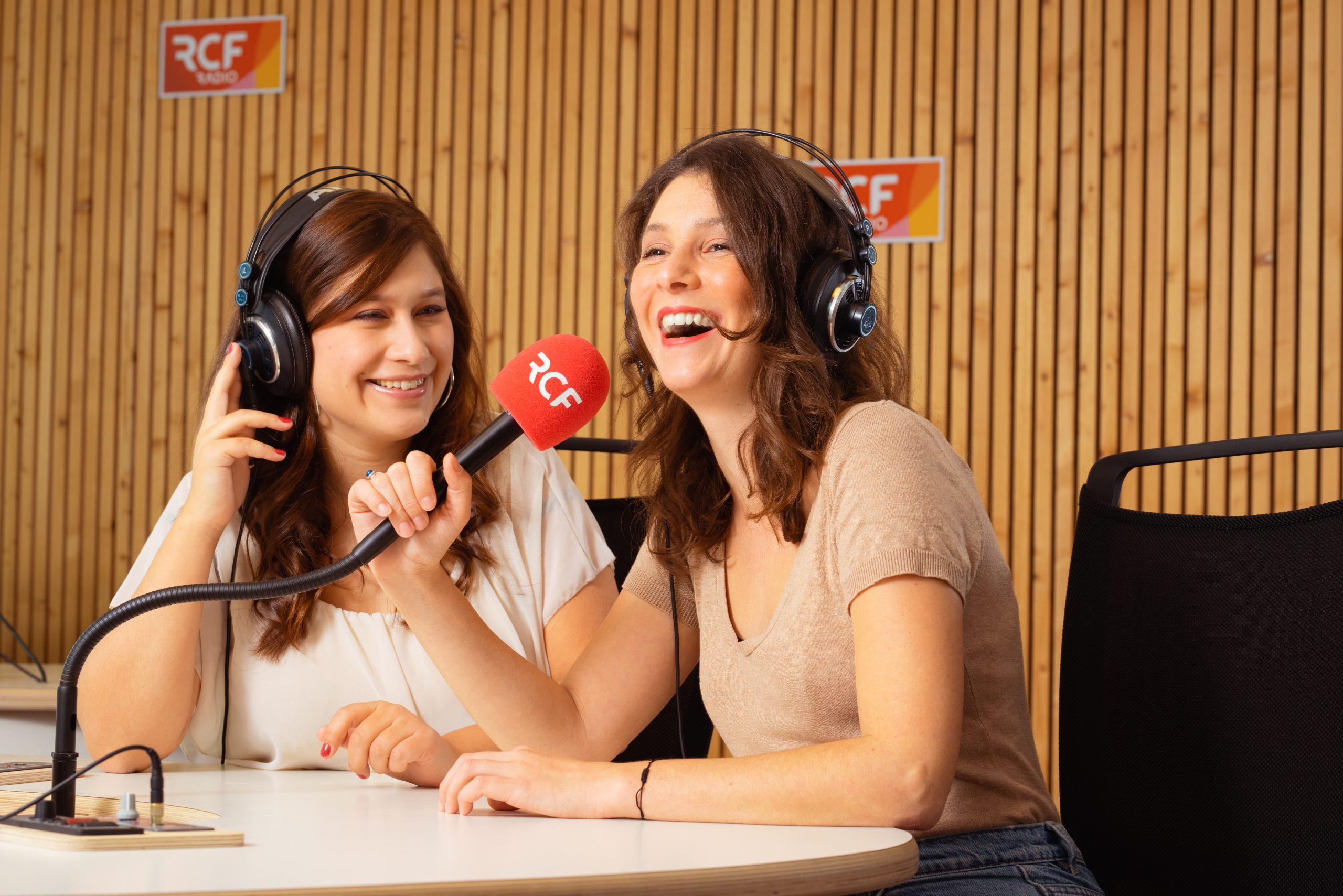 portrait duo en situation sur site professionnel emission radio RCF