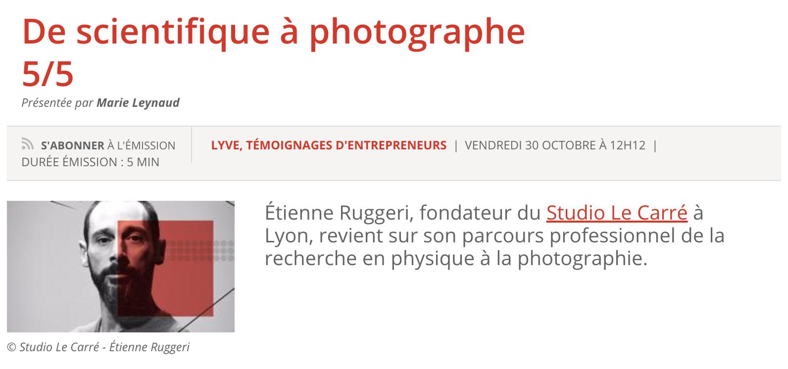 Découvrez l'interview d'Etienne RUGGERI le fondateur du studio Le Carré