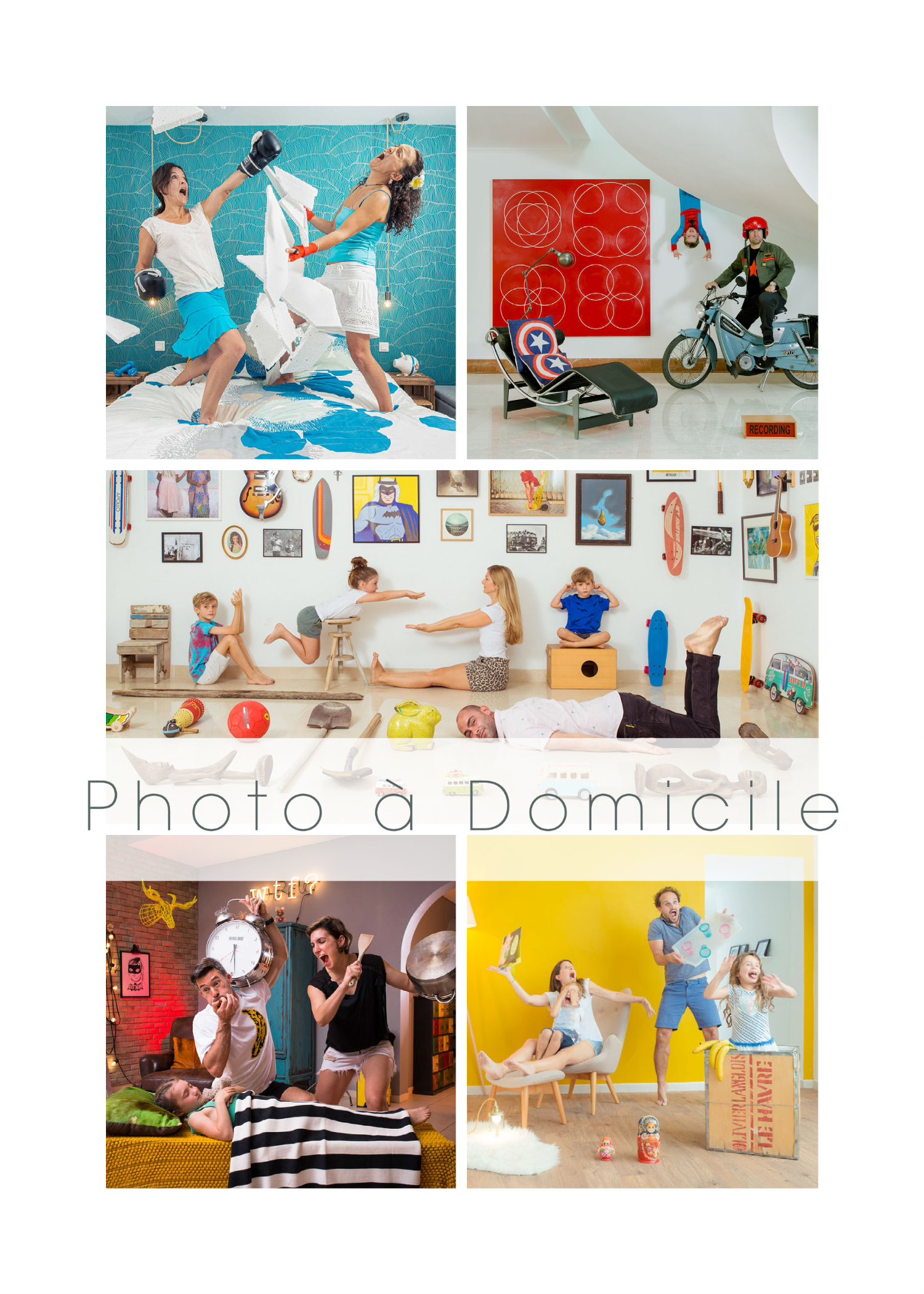 photographe famille, portrait de famille original, photo de groupe, shooting photo a domicile, seance shooting photo en famille