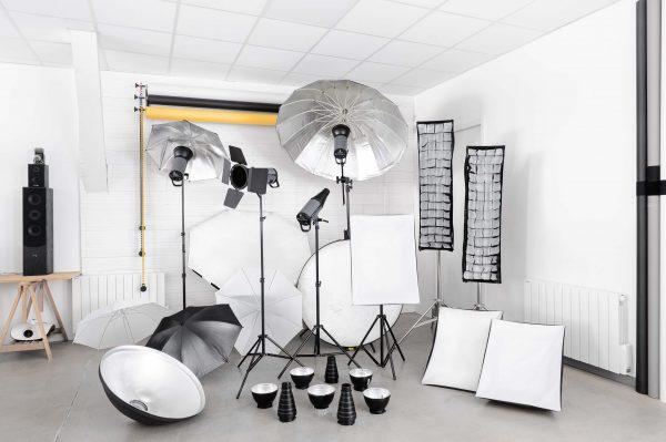 Le matériel lumiere inclus lors de votre location studio photo à toulouse